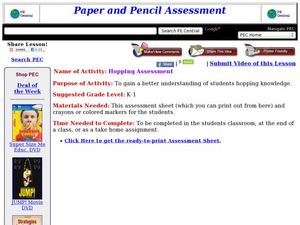 Hopping Assessment Lesson Plan