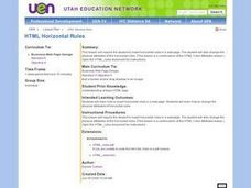 Horizontal Rules Lesson Plan
