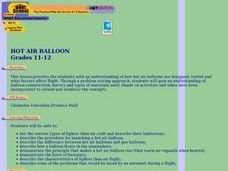 Hot Air Balloon Lesson Plan