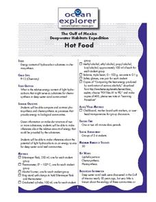 Hot Food Lesson Plan