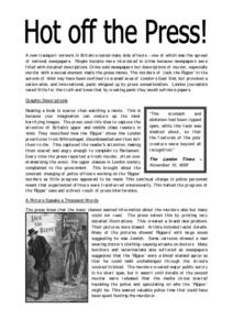 Hot off the Press: Jack the Ripper Worksheet
