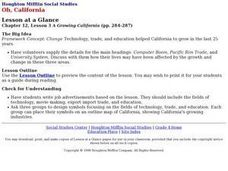 Houghton Mifflin Social Studies/Chapter 12, Lesson 3 A Growing California (pp. 284-287) Lesson Plan