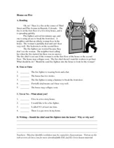 House on Fire Worksheet