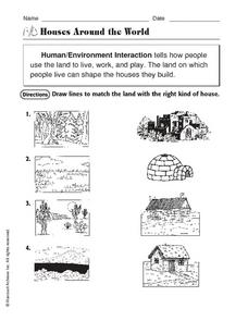 Houses Around the World Worksheet