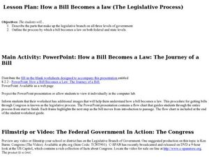 How a Bill Becomes a Law: The Journey of a Bill Lesson Plan