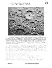 How Big is a Lunar Crater? Worksheet