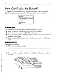 How Can Erosion Be Slowed? Worksheet