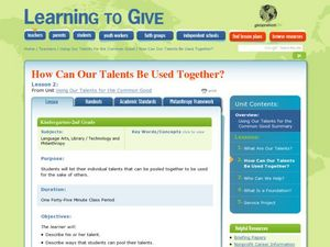 How Can Our Talents Be Used Together? Lesson Plan