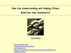 How Can Understanding and Helping Others Build Our Own Community? Lesson Plan
