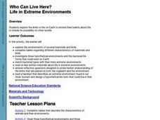 How Can We Live Here? Life In Extreme Environments Lesson Plan