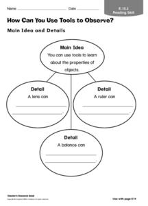 How Can You Use Tools to Observe? Worksheet