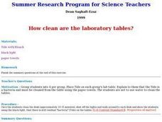 How Clean are the Laboratory Tables? Lesson Plan