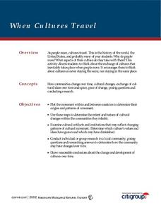 How Cultures Travel Lesson Plan