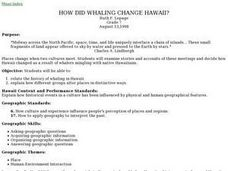 How Did Whaling Change Hawaii Lesson Plan