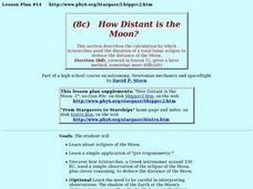 How Distant Is The Moon? Lesson Plan