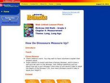 How Do Dinosaurs Measure Up? Lesson Plan