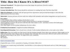 How Do I Know It's A River? Lesson Plan