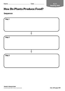 How Do Plants Produce Food? Worksheet