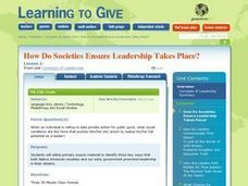 How Do Societies Ensure Leadership Take Place? Lesson Plan