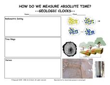 How Do We Measure Absolute Time?-Geologic Clocks Worksheet