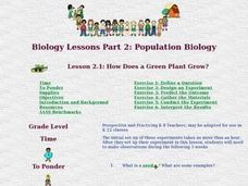 How Does a Green Plant Grow? Lesson Plan