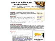 How Does a Migration Move Forward? Lesson Plan