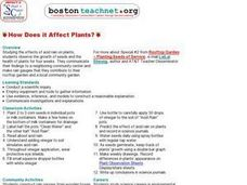 How Does it Affect Plants? Lesson Plan