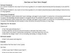 How Does our Heart Rate Change? Lesson Plan