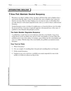 How Fish Maintain Neutral Buoyancy Worksheet