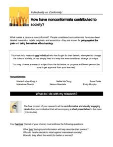 essay about nonconformists Nonconformist conformists essay because the idea of individuals truly believing that they are nonconformists from the whole of society.