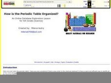 How Is the Periodic Table Organized? Lesson Plan