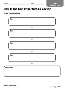 How is the Sun Important to the Earth? Worksheet