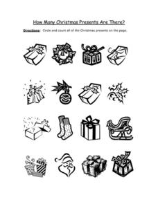 How Many Christmas Presents Are There? Worksheet