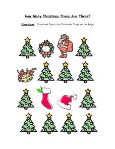 How Many Christmas Trees Are There? Worksheet 2 Worksheet