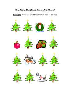 How Many Christmas Trees Are There? Worksheet