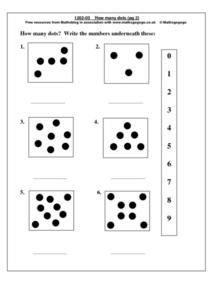 How Many Dots Worksheet