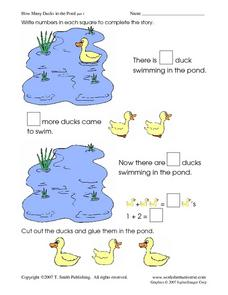 How Many Ducks in the Pond- Counting Stories Worksheet