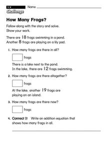 How Many Frogs?  challenge Worksheet