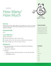 How Many, How Much? Lesson Plan