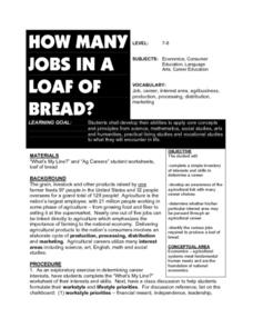How Many Jobs In A Loaf Of Bread? Lesson Plan