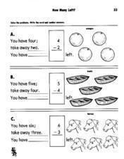 How Many Left? Lesson Plan