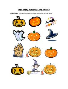 How Many Pumpkins Are There? - Halloween Worksheet