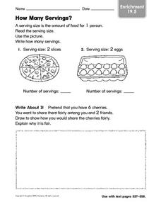 How Many Servings? Worksheet