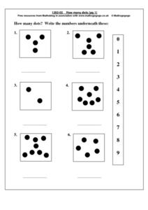How May Dots Worksheet