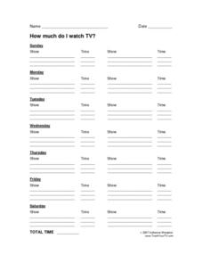 How Much Do I Watch TV? Lesson Plan