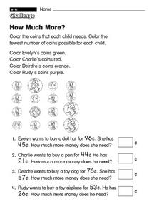 How Much More? Worksheet