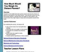 How Much Would You Weigh On Distant Planets? Lesson Plan
