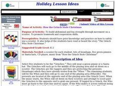 How the Grinch Stole Christmas Lesson Plan