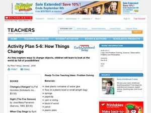 How Things Change Lesson Plan