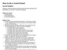 How to Be a Good Friend Lesson Plan